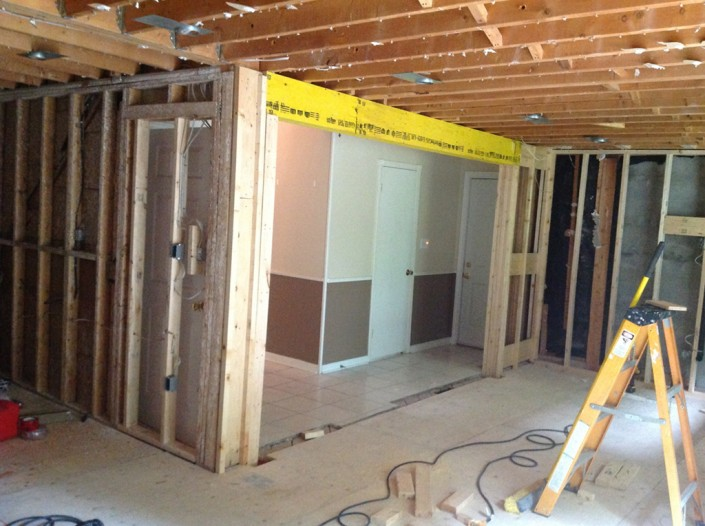 Load bearing wall removal k h davis engineering for Can a load bearing wall be removed